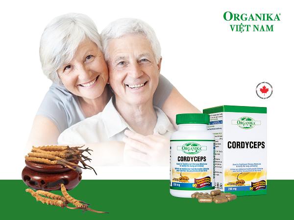 Viên nang chay Organika Cordyceps giúp bồi bổ cơ thể, tăng cường chức năng phổi và thận