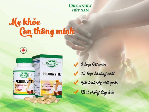 Organika Pregna-Vite - Giải pháp chăm sóc mẹ và bé suốt thai kỳ
