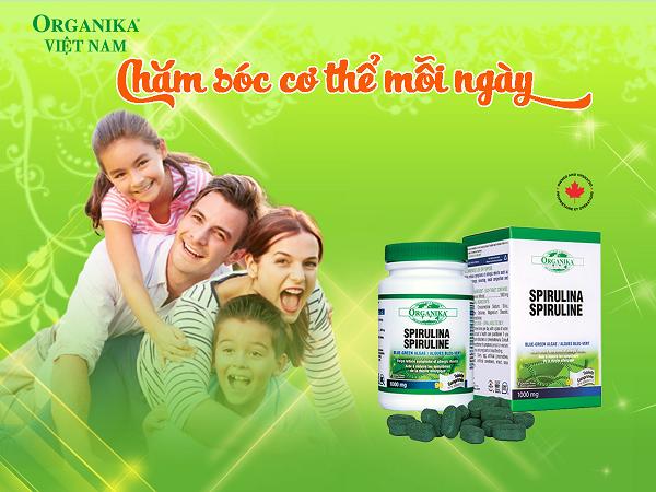 Tảo xoắn Organika Spirulina cung cấp dưỡng chất từ thiên nhiên