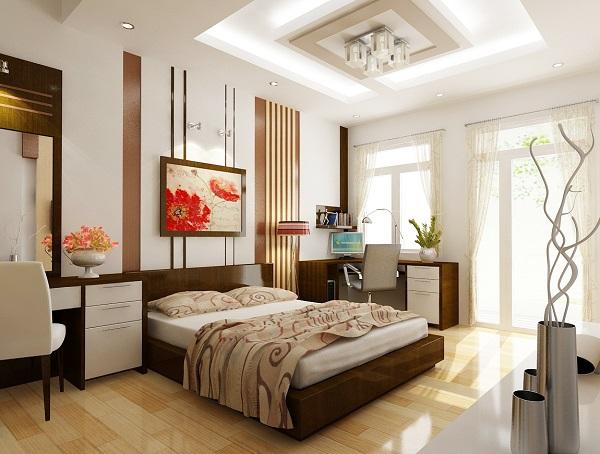 Bạn nên đặt giường ở ví trí xéo với cửa ra vào hoặc để giường ở một góc khuất trong phòng ngủ để bạn không cảm thấy phiền khi có người vào phòng.