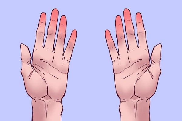 Kết quả thứ 1: Nếu ngón tay của bạn bị đỏ thì đây là tin tốt. Điều này có nghĩa bạn không gặp phải vấn đề liên quan đến lượng oxy trong máu, như vậy tim của bạn hoàn toàn khỏe mạnh và máu lưu thông đều