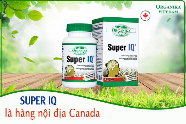 Thuốc bổ não Super IQ là hàng nội địa Canada, được ưa chuộng tại 33 quốc gia