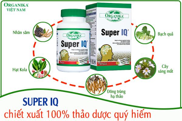 Super IQ được chiết xuất 100% thảo dược thiên nhiên quý hiếm