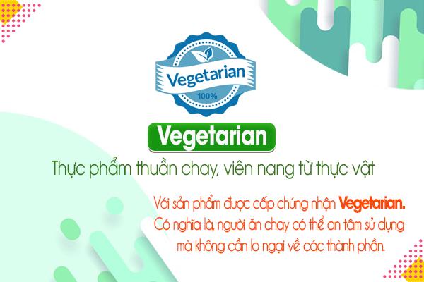 Vegetarian: Thực phẩm thuần chay, viên nang từ thực vật
