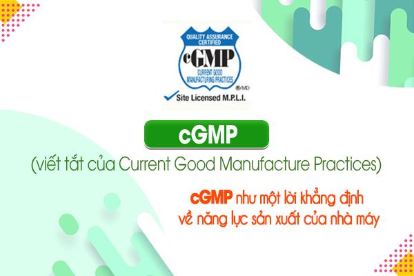 cGMP (viết tắt của Current Good Manufacture Practices)