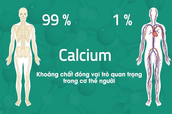 Calcium (hay còn gọi là canxi) là một khoáng chất đóng vai trò quan trọng trong cơ thể người.